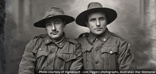 Photo courtesy of Vignacourt - Lost Diggers photographs, Australian War Memorial