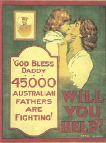 Wartime recruiting poster (Australian War Memorial)